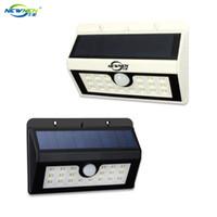 Wholesale intelligent LED lamp solar energy black white drop shipping
