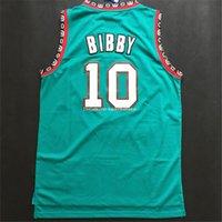 Precio de Camiseta para correr verde-Descuento 1998 ~ 2000 # 10 Mike Bibby Jersey, Verde Blanco Rev 30 Jerseys corriendo, la mejor calidad Deportes Camisas Para Hombres Tamaño S ~ XXXL