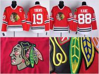 Wholesale Youth Kids Chicago Blackhawks Jersey Jonathan Toews Patrick Kane Stitched Embroidery Logos Hockey Jerseys Cheap Red