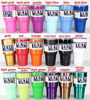 Wholesale 30 oz Yeti Rambler Tumbler Cup Purple Pink Blue Light Blue Orange Light Green Red Black Stainless Steel Mug Colors In Stock