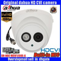 Cheap HD1080P Dahua HDCVI Camera 2MP DH-HAC-HDW1200E-A HDCVI IR Dome audio Security Camera CCTV IR distance 50m HAC-HDW1200E-A dahua cvi camera