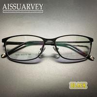 al por mayor anteojos desinger-Hombre gafas marco moda gafas óptica prescripción cuadrado lleno llanura titanio marca desinger luz negocio guapo nuevo claro lentes