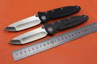 Wholesale Wild boar version Microtech SOCOM D2 TANTO Blade Folding knife DELTA Force TC4 titanium alloy Black G10 Carbon fiber Handle Tactical knife