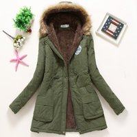 Wholesale Winter Coat Women New Parka Casual Outwear Military Hooded Thickening Cotton Coat Winter Jacket Fur Coats Women Clothes