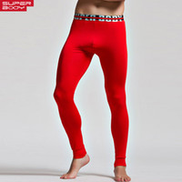 Wholesale Skinny Sleepwear - Wholesale-Men High Stretch Tight Pants Long pants Low Waist Sexy Mens Legging Pant Man Man new Sexy Designed Sweatpants Home Sleepwear
