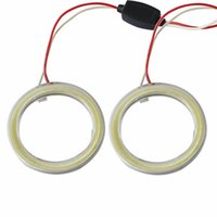 Wholesale 2 pieces Halo Rings Angel Eye car Headlight COB mm Lampshades Bright auto drl Angel Eyes Motorcycle v