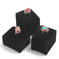 Wholesale 3pcs black and grey rings display jewelry holder accessories rack with three height cm cm cm good quality material