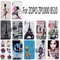 Cheap For ZOPO ZP1000 8510 Fashion Protective Cover Skin Pouch With Card Slot PU Leather Case Phone Case