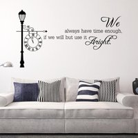 art time classics - 74x40cm English Motto Always Have Time Wall Sticker Removable Art Mural Decal for Home Decoration Children s Bedroom Kids Room