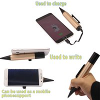 Wholesale Mobile phone holder and mobile power when the pen writing desktop universal live mobile phone rack creative multi clip