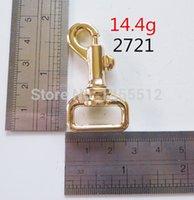 Precio de Precio más bajo por mayor de china-3/4 pulgadas de oro de 50 mm de aleación de zinc snap ganchillo giratorio bolsos de metal ganchos y bucles menor precio de hardware de China tienda en línea al por mayor