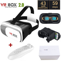 Wholesale 3D VR BOX case Google Cardboard Virtual Reality Headset D VR Glasses for IOS Android Smartphones