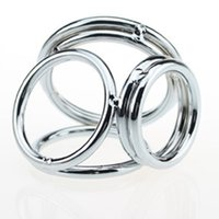 Wholesale Reusable Cock Ring Stainless Steel Penis Extender Enlarger Ball Stretcher Penis Rings Sex Delay Spray Adult Sex Products For Man