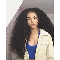 african american natural - Curly Glueless Full Lace Wigs Brazilian Virgin Hair Human Hair Wigs For African Americans Middle Part Front Lace Wigs