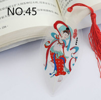 Wholesale Bookmarks with Tassels Chinese NO Forty five Beautiful Birthday Christmas Gift Elegant stationery Office School Supplies