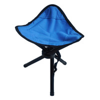 Wholesale Blue Outdoor Chair Camping Stools Portable Foldable Triangular Fishing Picnic Beach High Quality H193