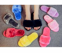 Wholesale Fashion Solid Color Indoor Home Comfortable Time Skid Resistance Autumn and Winter Women Scuffs Keeping Warm Slippers Fit for Girls