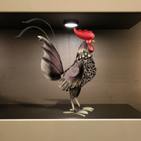 Wholesale TOOARTS Black iron rooster Metal sculptrue Iron sculpture Abstract sculpture Crafting Home furnishing articles Decoration Art A021