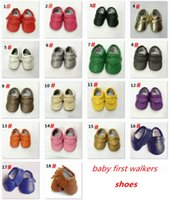 Wholesale Hot Sale Baby First Walkers Shoes Leather Tassels Moccasins Soft Leather Baby moccasins soft sole B543