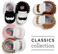 Spring / Autumn bebe boots - new Baby Beard Moccs shoes infant mustache Moccasins Newborn infant bebe goatee walking Shoes PU leather Prewalkers Boots baby moccassins