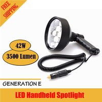 Wholesale XHUNTER Hunter W LED Handheld Spotlight Aluminium Hunting Spot Light Car Water Resist