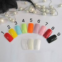 Wholesale Gel False Hot natural colorful Glitter Full Nail Tip Decoration Stickers Manicure care accesories