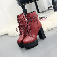 best warm boots - 2017 Women high heels fashion buckle warm spring is the best choice Ladies dress shoes