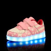 Enfants Led Chaussures Pour Enfants Décontracté Multi Wings Chaussures Coloré Glowing Bébés Garçons et Filles Sneakers USB Charging Light Up Chaussures
