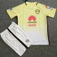 Wholesale Club America Jersey Home yellow White Custom Shirt Cheap jerseys Set uniforms kit high quality