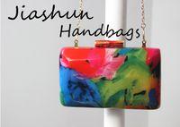 Dongguang City Jiashun pièces,. Ltd beauté élégant frais et pur sac dame sac en gros de mariage forfait mariage arcylic embrayage ou sac de chaîne