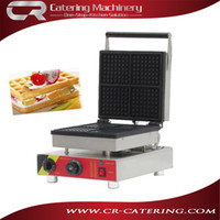 Wholesale Popular snack equipment commercial cast iron V electric mini square belgian waffle maker waffle machine with CE CR WS4A