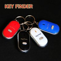 Wholesale Key Finder Chain Locator Anti Lost Alarm Easy Sound Control Flashing LED Light Key Chain Keys Seeker Whistle Sound Control Tracker Gifts F89