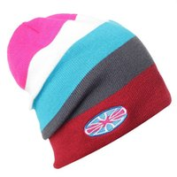 Wholesale Unisex Warm Knitted Ski Hat Acrylic Elastic Skating Beanie Snowboard Cap Winter Outdoor Camping Hiking Fishing Sportswear H12