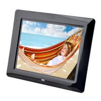 Cadre photo numérique en gros 8 pouces TFT-LCD Cadre photo numérique MultiMedia Lecteurs de musique MP3 800 * 600 Résolution Album