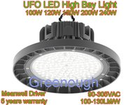 Wholesale 240W UFO LED High Bay Light Round LED Warehouse Lamp IP65 LED Industrial Lighting Fixtures VAC LM W