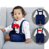 baby sailor suit - baby romper infant rompers boy s girl s Wear Bowtie baby navy suit Sailor Romper baby clothes