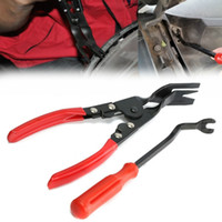 Wholesale 2pcs Car Door Upholstery Remover Trim Clip Removal Pliers Pry Bar Combo Tool