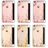 Для iphone 7plus мягкий корпус ТПУ Гальваническое покрытие Frame Секретные цветки для сада LG G5 K7 HUAWEI MATE8 P8 P9 Plus