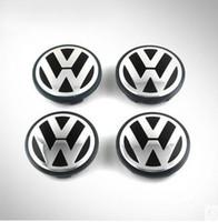Wholesale New mm For VW wheel center hub cap cover sets For Volkswagen LOGO EOS Golf Jetta Mk5 Passat B6 VW B7