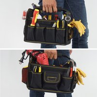 Wholesale High bearing large capacity portable tool bag with metal handle