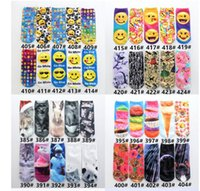 Wholesale 3D Cartoon Printed Socks Emoji Skull Pattern Low Cut Ankle Socks Animal Cat Multiple Colors Unisex Short Socks Ankle