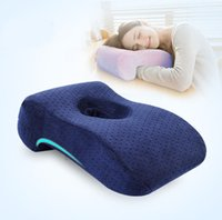 Wholesale OTH019 Creative Trendy Fashion Memory Foam Velvet Cover Holed Face Down L Shape Ergonomic Nap Pillow Home Living