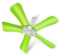 Revisiones Ceiling fan-M2-660 Verde 220V 10w Mini ahorro de energía Ventilador de techo Ventilador eléctrico 5 flabellums ABS material 20x43cm