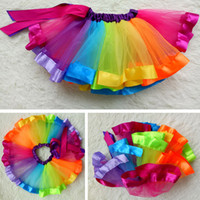 tutu Dress baby tutus ribbons - Baby girls Kids Clothing Skirts Skorts tutu Dress summer girl infant happy first birday rainbow skirt children toddler clothes