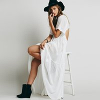 ankle grinding - Dress Summer The New Europe and The United States Edge Grinding Backless Dress Comfortable Holiday Beach Dress