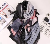 big print signs - 2017 fashion scarf Europe and the United States of big shop sign ms long silk scarfs New winter high grade joker comfortable silk scarves