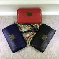 authentic vintage dresses - Hot sales Fashion Authentic Deerskin Cc Brand Women Vintage Double Flap cowhide Handbag Classic Quilted Shoulder Bag