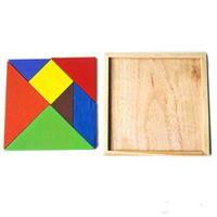 Wholesale 200sets Colorful Children Kids Educational Tangram Shape Wooden Puzzle Toy Brand FT Blocks