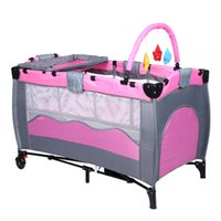 Wholesale Newest Foldable Baby Crib Portable Newborn Sleeping Playing Bed Multifunctional Playpen Baby Game Bed VT0411