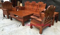 Wholesale Home sofa pieces living room sofa sets luxry wood sofas with lacquer craft seat table couch african rosewood fine